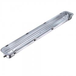 Réglette vierge simple inox pour tube LED  120 cm