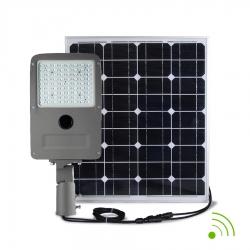 STREET LIGHT LED 30W / SOLAIRE AUTONOME 80W / AVEC DETECTEUR /  IP67 - 6000K