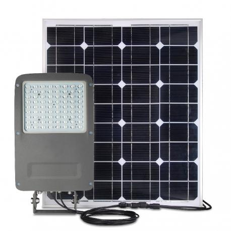 Projecteur autonome led 50w panneau solaire 100w for Led alta efficienza