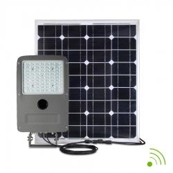 PROJECTEUR LED 50W / SOLAIRE AUTONOME 100W / AVEC DETECTEUR / IP67 - 6000K