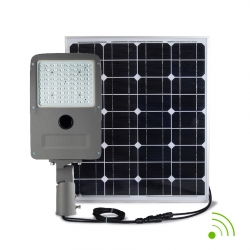 STREET LIGHT LED 50W / SOLAIRE AUTONOME 100W / AVEC DETECTEUR / IP67 - 6000K