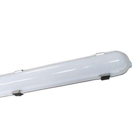 Réglette LED intégrée 25W - câblage traversant - 6000K - IP65 - 1270 mm - Soline