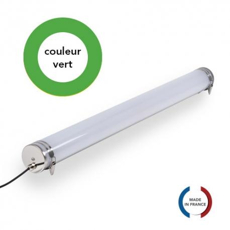 TUBELight FUN bi-matière - Vert - Opale - Ø70 x 1 200 mm