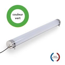 TUBELight FUN bi-matière - Vert - Opale - Ø70 x 1 500 mm