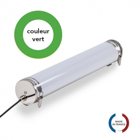 TUBELight FUN bi-matière - Vert - Opale - Ø100 x 600 mm