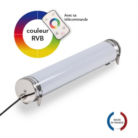 TUBELight FUN bi-matière - RVB - Opale - Ø100 x 600 mm