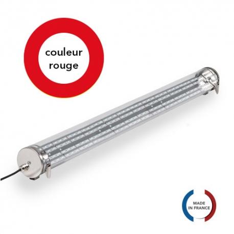 TUBELight FUN bi-matière - Rouge - Clair - Ø100 x 1 200 mm