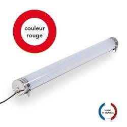 TUBELight FUN bi-matière - Rouge - Opale - Ø100 x 1 200 mm
