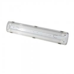 Réglette vierge double polycarbonate pour tubes LED 60cm - IP65