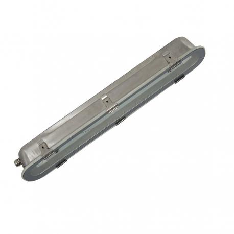 Réglette vierge simple inox pour tube LED  60 cm