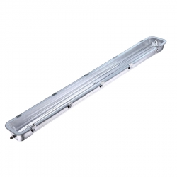 Réglette vierge simple inox pour tube LED  150 cm