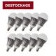 Lot de 10 lampes LED 6,5W - E14 - Blanc chaud