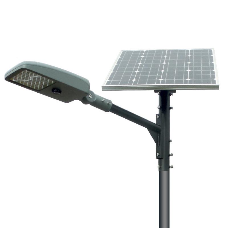 STREET LIGHT AUTONOME LED 30W panneau solaire 80W
