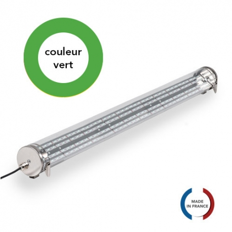 TUBELight FUN bi-matière - Vert - Clair - Ø70 x 1 200 mm