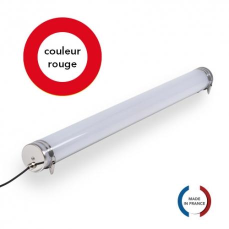 TUBELight FUN bi-matière - Rouge - Opale - Ø70 x 1 200 mm