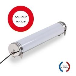 TUBELight FUN bi-matière - Rouge - Opale - Ø70 x 600 mm