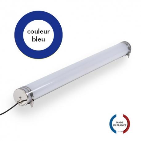 TUBELight FUN bi-matière - Bleu - Opale - Ø100 x 1 200 mm