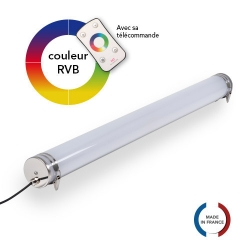 TUBELight FUN bi-matière - RVB - Opale - Ø100 x 1 200 mm