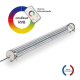 TUBELight FUN bi-matière - RVB - Clair - Ø100 x 1 500 mm