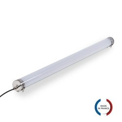 TUBELight Slim LED intégrées bi-matière - 24W - 4 000K - Opale - Ø70 - 1 265 mm