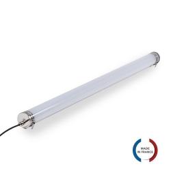 TUBELight Slim LED intégrées bi-matière - 24W - 5 000K - Opale - Ø70 - 1 265 mm
