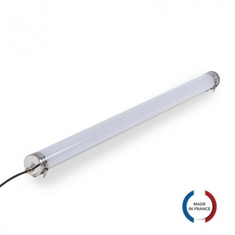 TUBELight Slim LED intégrées bi-matière - 1565 mm - 30W - 5 000K - Opale - Ø 70