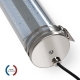 TUBELight LED intégrées bi-matière - 1265 mm - 48W - 5000K - Clair - Ø 100