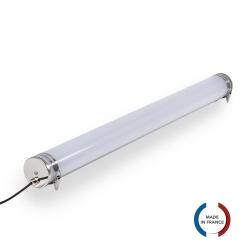 TUBELight LED intégrées bi-matière - 60W - 6 000K - Opale - Ø100 x 1565 mm