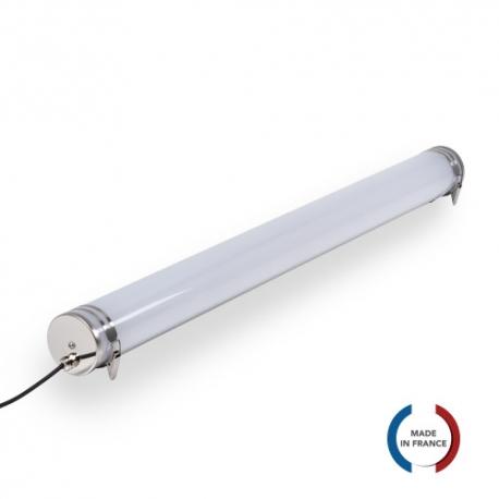 TUBELight TUBE bi-matière pour 2 TUBES LED 1200 mm - opale - Ø 100