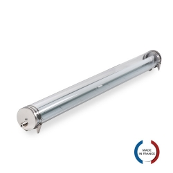 TUBELight SEA TUBE  bi-matière pour 1 TUBE LED - Clair - Ø100 x 1500 mm