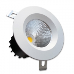 Spot LED encastrable 8W - Dimmable - 4000K - IP20 - IK07
