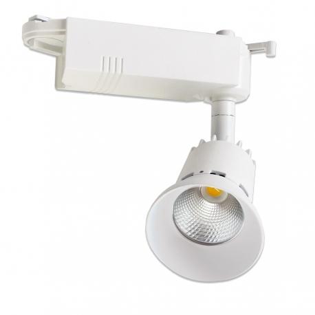Spot rail LED 8W avec réflecteur